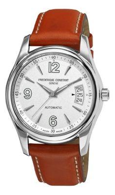 TOPSELLER! Frederique Constant Men`s FC-303S4B26 Junior Silver Dial Brown Strap Watch $359.99