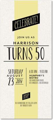 Fine Stripe - Birthday Party Invitations