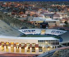 Sun Bowl - Played Dec 31 every year. On the campus of the University of Texas at El Paso. Seats 52,000.  Usually a sellout.  Built in a mountain.