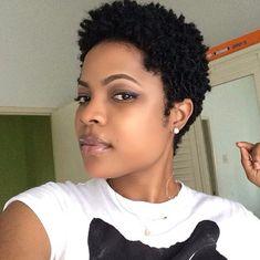 Natural hair. Twa. Tapered hair. Short natural hair. Curls ...