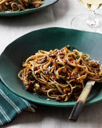 Whole-Wheat Linguine with Walnuts, Orange and Chile Recipe from Food & Wine