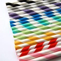 Rainbow straws