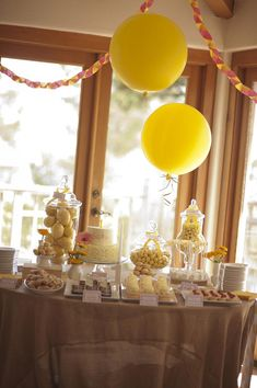 """You are my Sunshine"" Birthday Party via Kara's Party Ideas #yellow #FirstBirthday #party #idea #decorations #sunshine"