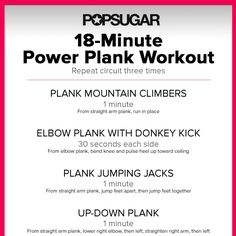 18-Minutes Closer to Flat Abs: Plank Workout
