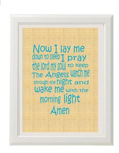 $20 Baptism Gift - Children's Prayer Print