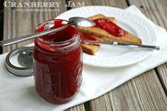 Homemade Cranberry Jam. #food #cranberries #jams #spreads #Christmas