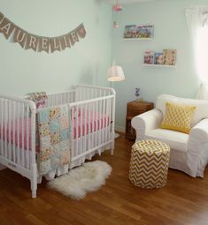Mint green nursery w