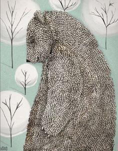#bear by Black Bunny #color #illustration
