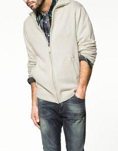 Zara Man - Cotton Cardigan with Pockets