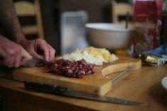 Cornish pasty making