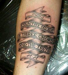 Country music tattoo