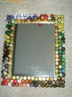 bottle cap mirror
