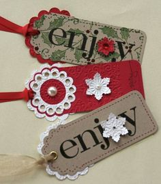 More Scalloped Tags by splicedcenterstamp - Cards and Paper Crafts at Splitcoaststampers