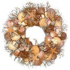 Pretty Shelll Wreath by Coastal Decor