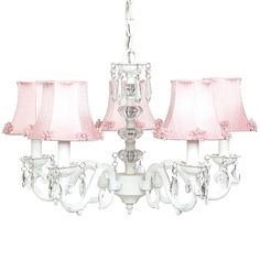 Beautiful chandelier for a girl's room