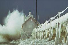 Winter in Grand Haven, Michigan
