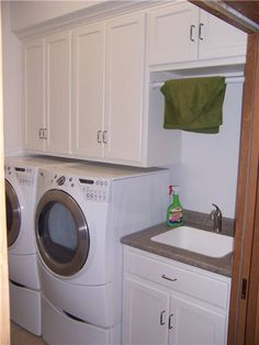 Utility Sink Cabinet | Laundry Room Cabinet & Storage Solutions | Ds Woods Custom Cabinets ...