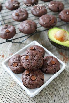 Vegan Chocolate Cookie Recipe on twopeasandtheirpod.com