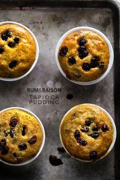 Rum and Raisin Tapioca Pudding
