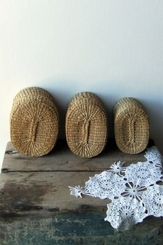 Wicker baskets...