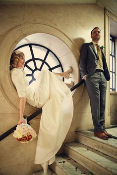 Replica 1930s wedding dress by @HarlequinFox with photography by @Assassynation beautiful window pose...