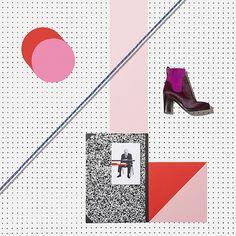 graphic, memphis, polka dots, richi talboy, colors, art, inspir, collages, design