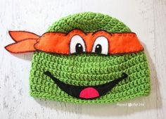 #Crochet ninja turtle free hat pattern from @repeatcrafterme