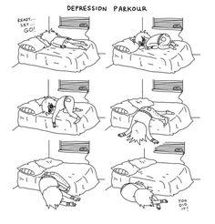 Depression parkour :(