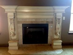 FIreplace surround from and old headboard