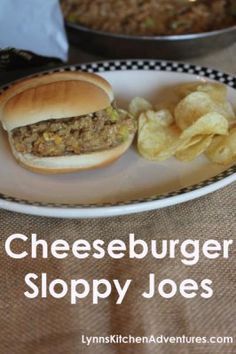 Cheeseburger Sloppy Joes- Quick and Easy Dinner!