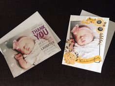 @hooleywithaz sent these beautiful personalized cards to her baby's biggest supporters.