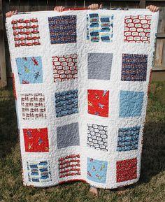 Great beginner quilt using monkey fabrics