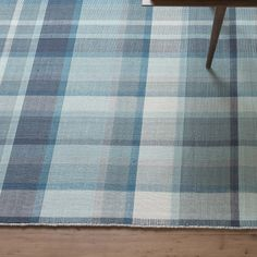 Heritage Tartan Plaid Rug - Blue | Rugs | Accessories