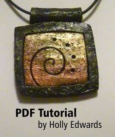 Tutorial Polymer Clay Faux Ancient Stone Necklace by hollysart, $9.00