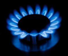 la flamme du gaz