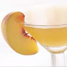 Tropical Peach Drink: - 1 oz vanilla flavored vodka - 2 oz pineapple juice - 1/4 oz peach schnapps - 1 tsp lemon juice Garnish: peach wedge
