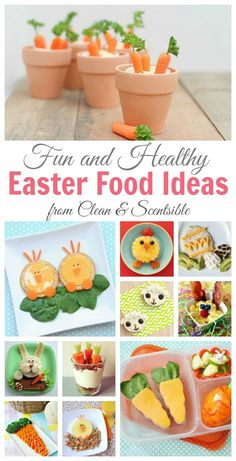 Tons of fun and healthy Easter food ideas.  Great break from all of that sugar!