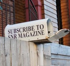 Subscribe free to SNR Mag.  Get updates and the chance to win giveaways by becoming a subscriber.