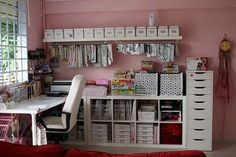 idea, craft space, organ, dream, offic, scrapbook rooms, craftroom, crafts, craft rooms