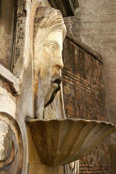 Rome, Via Giulia, Fontana del Mascherone (Big Mask Fountain) Lazio