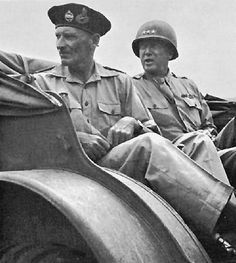 Generals Montgomery And Patton in Sicily, July 1943.