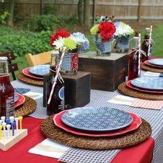 Tischdeko grillen on pinterest garten candle centerpieces and table decorations - Tischdeko grillparty ...