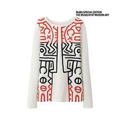Long Sleeved Graphic T-Shirt - Keith Haring