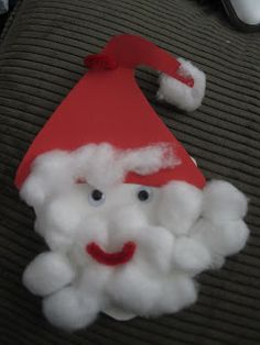 Toddler Approved!: Cotton ball Santa
