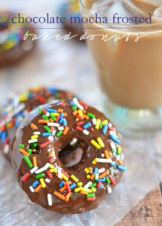 There's no need to hit the bakery when you can make these Chocolate Mocha Frosted Donuts at home in just minutes. #icedDelight  @indelight