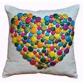 Button Heart 12x12-inch Decorative Pillow   Overstock.com Shopping - The Best Deals on Throw Pillows
