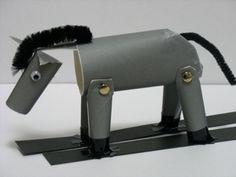 How to make toilet paper tube donkey