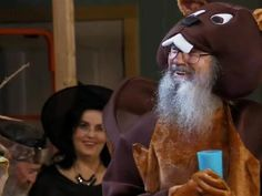 Si Robertson dressed up as a beaver for Halloween
