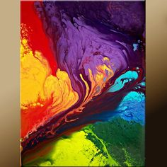 Placement: either leaning against back of the sofa on the sofa table/bench, or in either northwest or southwest corner leaning against wall in floor grouping.  11x14 Abstract Fine Art Print - Contemporary Modern  Art  by Destiny Womack - Beyond the Rainbow  - dWo