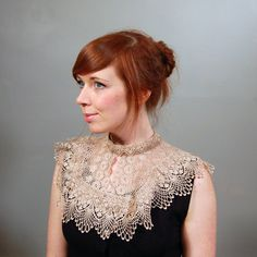 Victorian Style Lace Collar by thepigeonchest on Etsy, $45.00